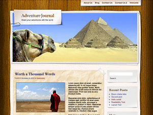 Adventure Journal - Free WordPress Theme
