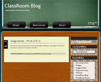Free Theme for Website Classroom Blog