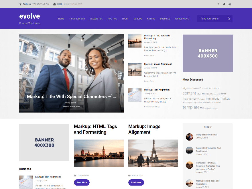 http://wp-themes.com/wp-content/themes/evolve/screenshot.png