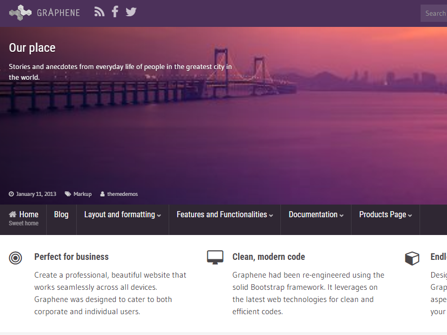 Grapene is one of the great Adsense WP Themes