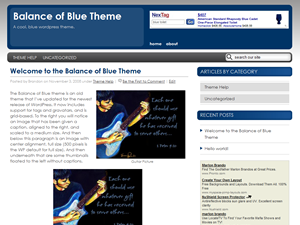 New Balance Of Blue WP Theme