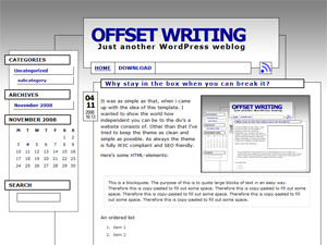 Offset Writing