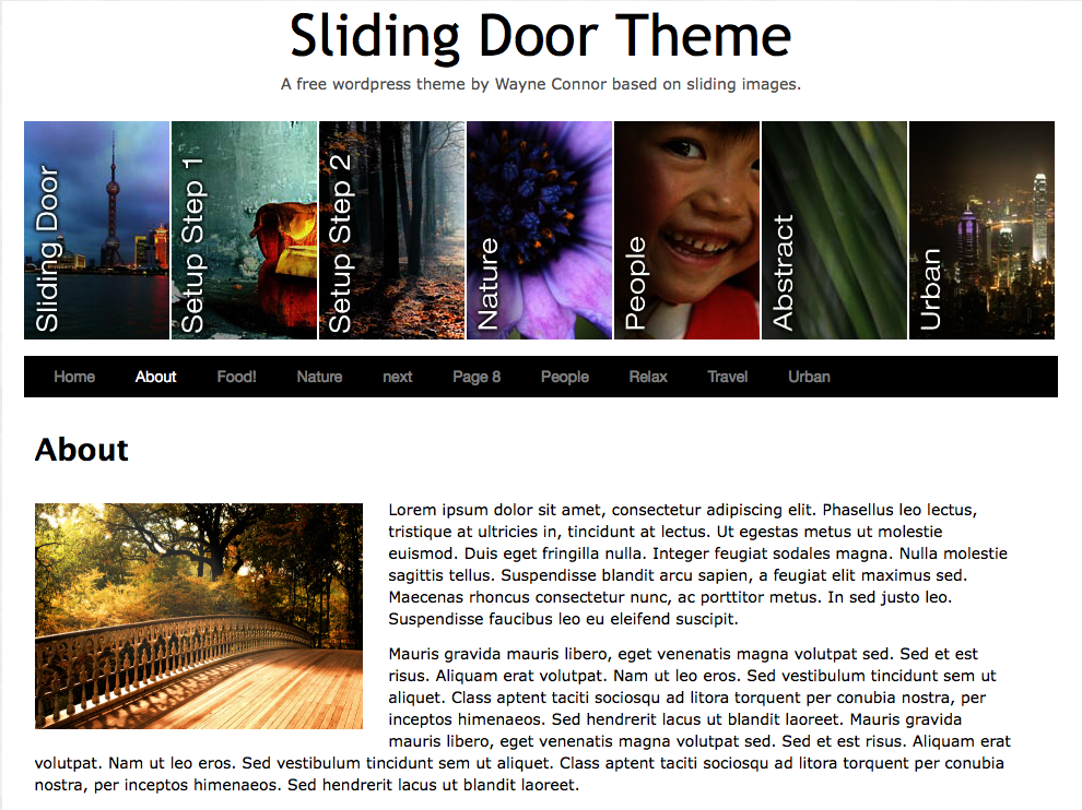thesis theme header link