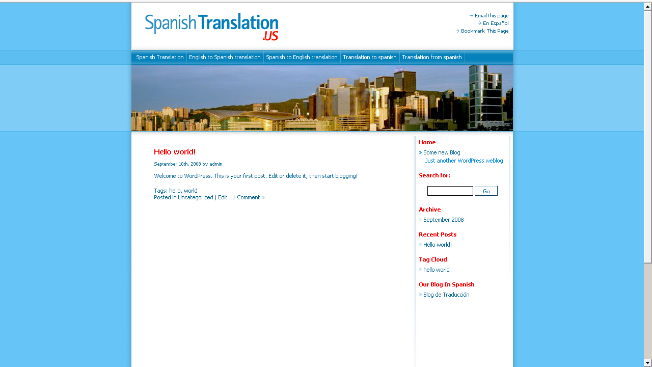 Spanish Translation US