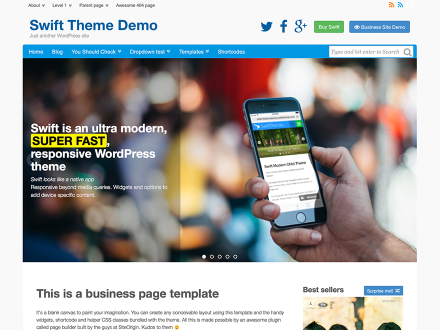 Swift is another choice for the Adsense WP Themes
