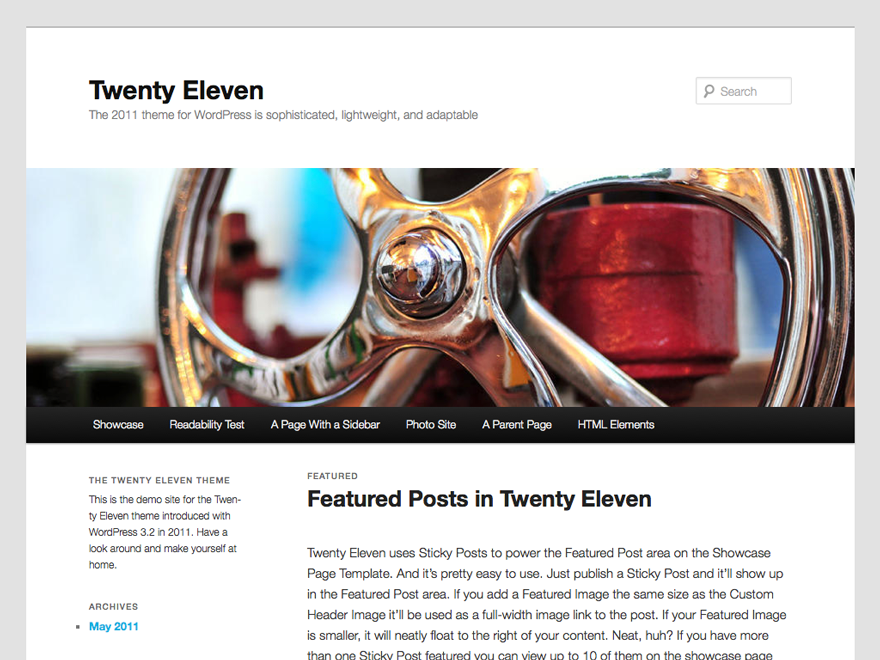 WordPress Twenty Eleven Theme