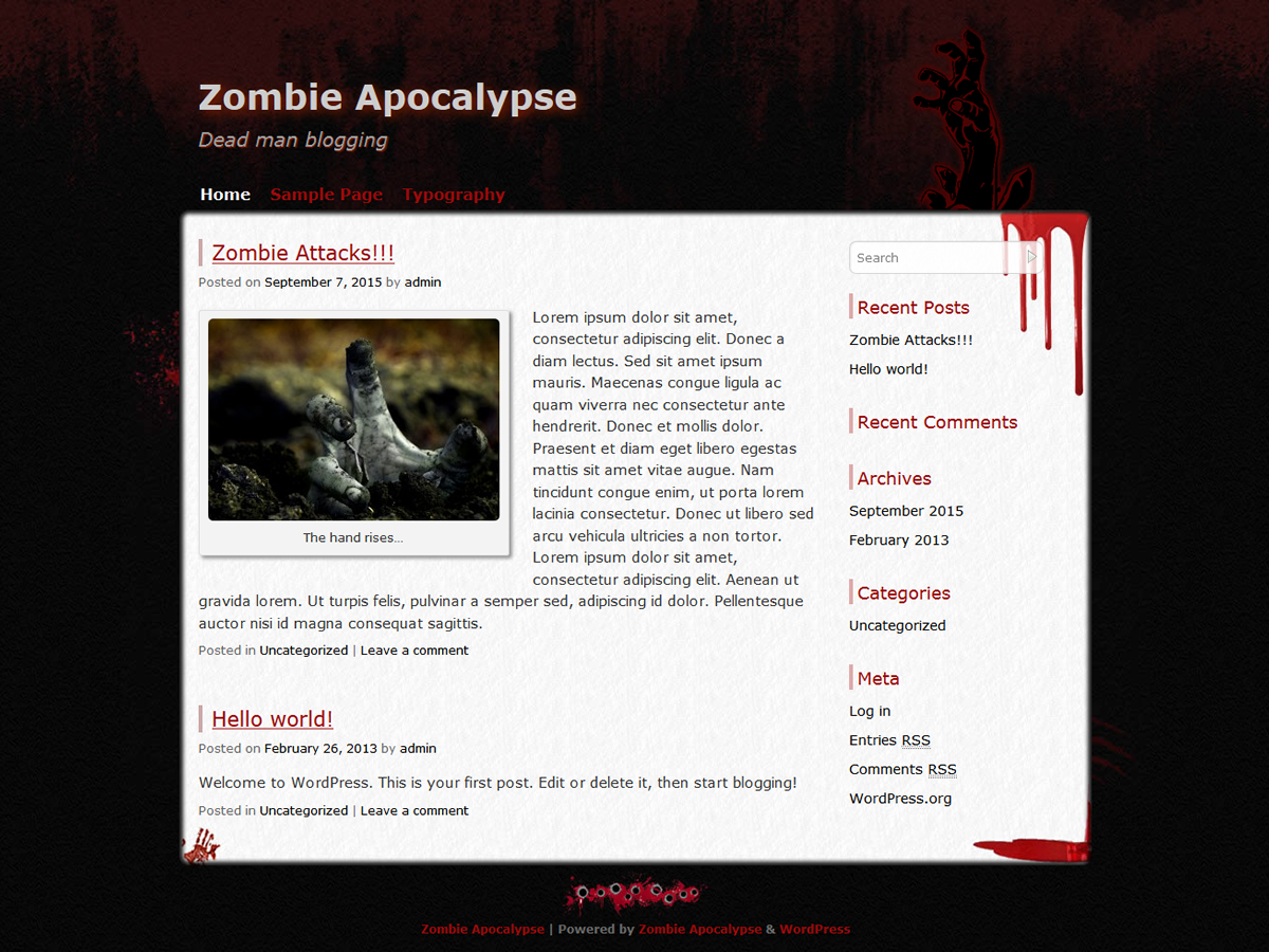 http://wp-themes.com/wp-content/themes/zombie-apocalypse/screenshot.png