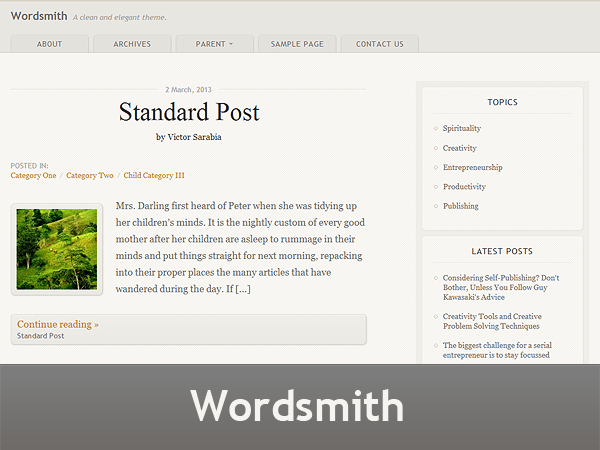 tema wordpress paroliere